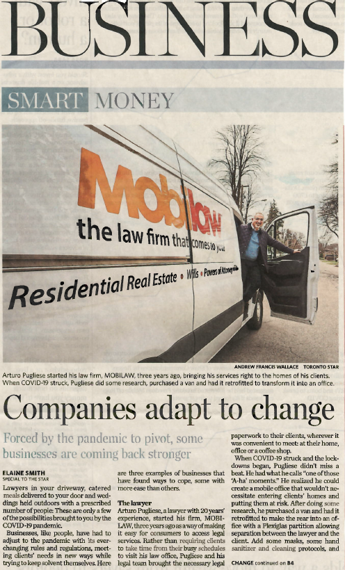 MOBILAW™ featured in The Toronto Star